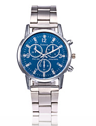 Men's Fashion Watch Chinese Quartz Stainless Steel Band Casual Silver
