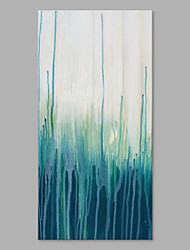 IARTS® Hand Painted Modern Abstract Blue&Green Color Flow Oil Painting On Canvas with Stretched Frame Wall Art For Home Decoration Ready To Hang
