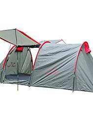 Недорогие -Trackman® 2 человека Туристическая палатка-хижина Семейный кемпинг-палатка На открытом воздухе Дожденепроницаемый Защита от пыли Складной Однослойный Палатка Двухкомнатная 2000-3000 mm для