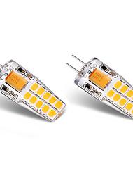 cheap -3W G4 LED Bi-pin Lights T 20 leds SMD 2835 Warm White White 300lm 3000-3500   6000-6500K AC/DC 12V