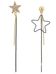 Drop Earrings Women's Euramerican Fashion Personalized New Fashion Shiny Gold Alloy Diamante Crystal Drop Dangle Pendant Ear Charm  Earring Jewelry