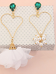 Women's Drop Earrings Imitation Pearl Rhinestone Basic Unique Design Flower Style Dangling Style Flowers Friendship Hypoallergenic