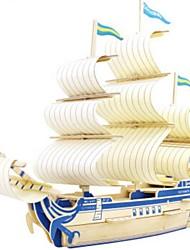baratos -Quebra-Cabeças 3D Quebra-Cabeça Modelos de madeira Barco de Guerra Navio Faça Você Mesmo Madeira Madeira Natural Crianças Unisexo Dom
