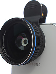 cheap -Aluminum Alloys universal Clip cellphone 0.45X wide angel lenses  10x macro mobile phone lens for iphone Huawei xiaomi samsung