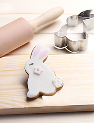 cheap -Cookie Tools Rabbit Animal 3D Cartoon For Sandwich For Candy Cheese For Pie For Cookie For Bread Stainless Steel Thanksgiving Valentine's