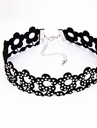 cheap -Women's Shape Euramerican Fashion Choker Necklace Rhinestone Plush Fabric Choker Necklace Wedding Birthday Party Evening Event/Party