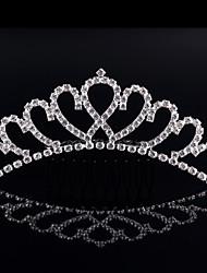 tiaras cristalinas de la aleación del rhinestone peine el estilo elegante del casco