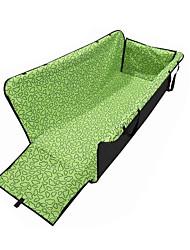 Gato Cachorro Cobertura de Cadeira Automotiva Animais de Estimação Transportadores Prova-de-Água Portátil Dobrável Geométrica Verde