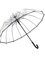 cheap -1 Pc Transparent Umbrella Female Straight Long Handle Umbrella