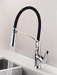 Недорогие -Настольная установка Керамический клапан Хром , кухонный смеситель