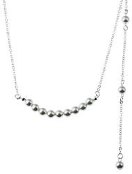Mulheres Gargantilhas Colares com Pendentes colares em camadas Imitação de Pérola Gema Formato de Linha Imitação de PérolaImitação de
