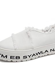 Для женщин На плокой подошве Удобная обувь спандекс Ткань Осень Повседневные Для праздника Для прогулок Удобная обувьКомбинация