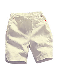 Men's Mid Rise Micro-elastic Active Shorts Pants,Active Simple Straight Solid