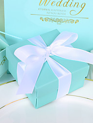 cheap -12 Piece/Set Favor Holder - Creative Card Paper Favor Boxes with Ribbon Beter Gifts® Tiffany Blue