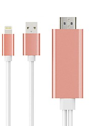 HDMI 1.4 Cable HDMI 1.4 to Thunderbolt USB 2.0 Cable Male - Male 2.0m(6.5Ft) Multiple Colour