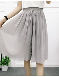 Women's High Waist Micro-elastic Loose Pants,Simple Loose Solid