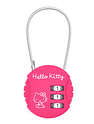 cheap -HELLO KITTY LT-641 Password Padlock Zinc Alloy 3 Password Baggage Code Lock Round Password Lock Security Lock Dail Lock Password Lock