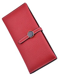 cheap -Women's Bags Polyester / PU Checkbook Wallet for Event / Party / Shopping Pale Blue / Light Gray / Red