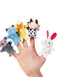 10pcs Set Cartoon Animal Plush Finger Puppets Kids Talk Prop Children Forest Favor Dolls
