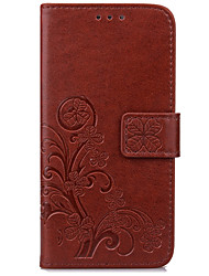 cheap -Case For Samsung J7 (2017) J5 (2017) Case Cover Card Holder Wallet with Stand Flip Embossed Full Body Case Flower Hard PU Leather for  J3 (2017)