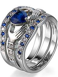 cheap -Ring Settings Ring  Luxury Elegant Noble Zircon Heart Women's  Rhinestone Euramerican Fashion Birthday Wedding Movie Gift Jewelry