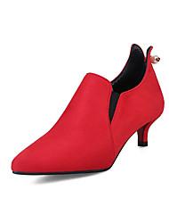 Women's Heels Basic Pump Synthetic Microfiber PU Fall Winter Wedding Office & Career Party & Evening Dress Basic Pump Imitation Pearl