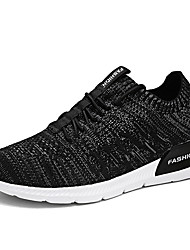 Running Shoes Men's Athletic Shoes Light Soles Tulle Summer Fall Athletic Casual Outdoor  Light Soles Low Heel Gray Orange Black Sport Shoes