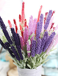 cheap -20inch Large Size 60 Heads Silk Polyester Lavender Tabletop Flower Artificial Flowers