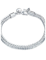 cheap -Women's Girls' Crystal Silver Plated Chain Bracelet - Friendship Fashion Rock Geometric Silver Bracelet For Christmas Gifts Wedding Party