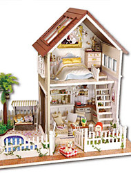 DIY KIT Toys Hand Made DIY House Villa Plastics Pieces Not Specified Christmas Birthday Children's Day Gift