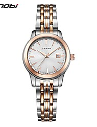 cheap -Women's Wrist watch Japanese Quartz Shock Resistant Stainless Steel Band Luxury Casual Silver