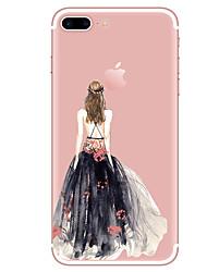 economico -Per iPhone X iPhone 8 iPhone 8 Plus Custodie cover Transparente Fantasia/disegno Custodia posteriore Custodia Sexy Morbido TPU per Apple