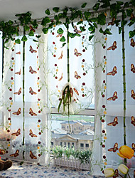 Pencil Pleat Curtain Patterned Pastoral , Embroidery Embroidered Living Room Material Sheer Curtains Shades Home Decoration