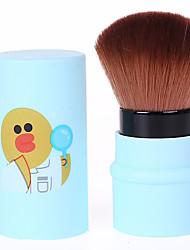 1шт Кисть для пудры Синтетические волосы Без запаха Неприменимо Пластик Лицо