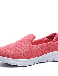 cheap -Women's Shoes Tulle Summer Fall Comfort Sneakers for Casual Dark Blue Dark Grey Light Grey Green Pink