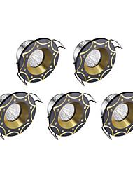 abordables -Lampes Encastrées Blanc Froid 5 pièces