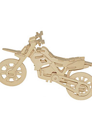 cheap -3D Puzzles Metal Puzzles Wood Model Model Building Kit Moto DIY Natural Wood Classic Kid's Adults' Unisex Gift