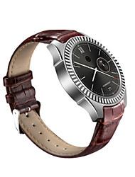 Муж. Смарт-часы Цифровой Кожа Группа Черный Коричневый