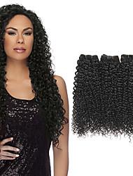 Ciocche a onde capelli veri Brasiliano Riccio 1 anno 3 pezzi tesse capelli