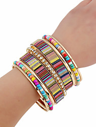 cheap -Women's Bangles Fashion Punk Rock Metal Alloy Rhinestones Nonwovens Alloy Circle Jewelry For Birthday Party/ Evening Date Street