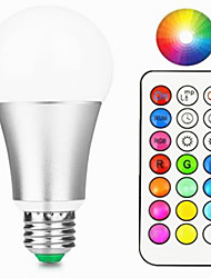 cheap -1pc 10 W 800 lm E26 / E27 LED Smart Bulbs A60(A19) 1 LED Beads Integrate LED Dimmable / Remote-Controlled / Decorative RGBW / RGBWW 85-265 V / 1 pc / RoHS