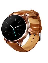 Муж. Смарт-часы Цифровой Кожа Группа Черный Золотистый