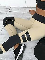 Damen Patchwork Genähte Spitzen Legging