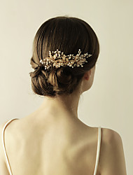 cheap -Imitation Pearl Alloy Hair Combs Flowers 1 Wedding Special Occasion Anniversary Birthday Party / Evening Headpiece