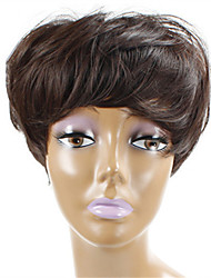 Long Brown Natural Wig for Elder Women Costume Synthetic Wigs