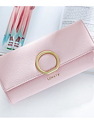 Women Bags All Seasons PU Polyester Coin Purse for Casual Outdoor Blue Black Blushing Pink