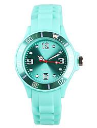 baratos -Mulheres Relógio de Pulso Japanês / Silicone Banda Casual / Fashion Verde