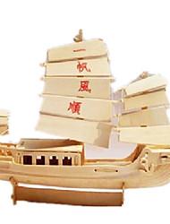 Недорогие -3D пазлы Пазлы Наборы для моделирования Корабль Своими руками моделирование деревянный Классика В китайском стиле Взрослые Универсальные Игрушки Подарок