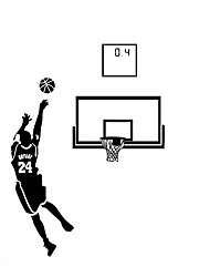 Large Size 130*180cm Famous Star Basketball Shots Ball Wall Stickers 0.4 Vinyl Wall Decals Boys Room Sticker Home Decoration For Family Kids Room