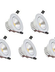 cheap -3W Dimmable COB LED Downlights Warm White Cool White LED AC 110V/220V 5 pcs